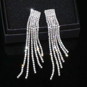 Alyssa Crystal Tassel Earrings